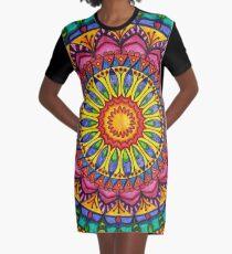 Floral Mandala - Joy Graphic T-Shirt Dress