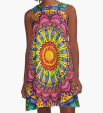 Floral Mandala - Joy A-Line Dress