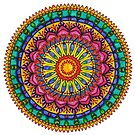 Floral Mandala - Joy by Carrie Dennison