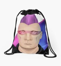 Cyber Punk Drawstring Bag
