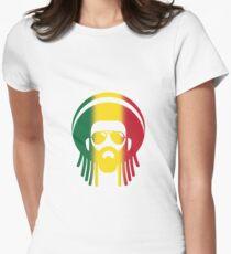 Rasta Face Women's Fitted T-Shirt