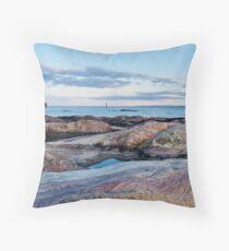 Pink Rocks at Pittenweem Throw Pillow