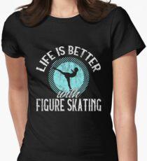 Figure Skating Skater Skaters Gift Women's Fitted T-Shirt