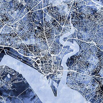 Southampton England City Map by ArtPrints