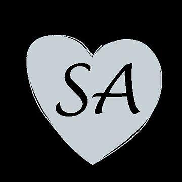 Black and Silver San Antonio Heart Gift SA Pride Basketball by DigitalNomadTee