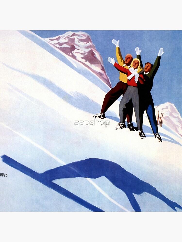 Weinlese Aosta-Wintersport trägt italienische Alpenreiseanzeige zur Schau von aapshop
