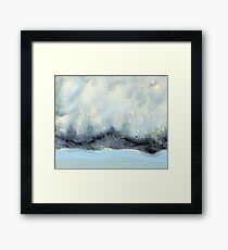 Cloudy Stars On Silver Mountain Framed Print