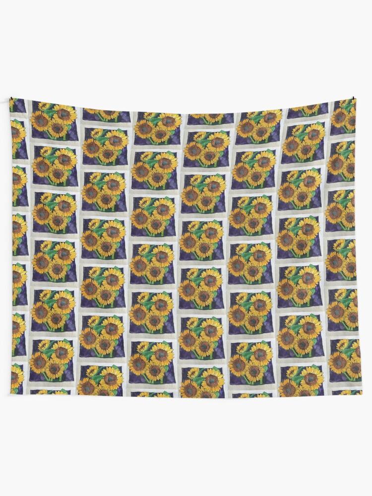 Alternate view of Sunflowers Tapestry