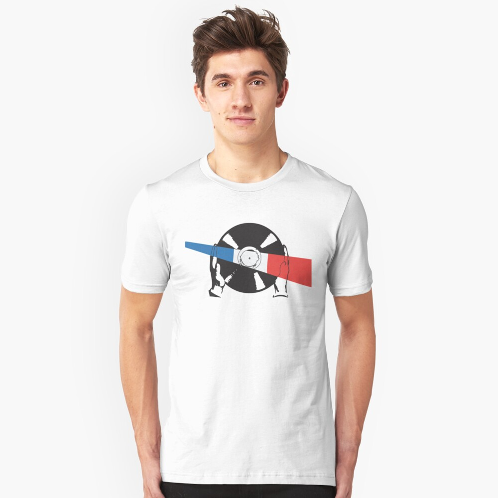 Fench Flag Vinyl Unisex T-Shirt Front
