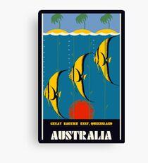 Great Barrier Reef Australia travel advertising Canvas Print