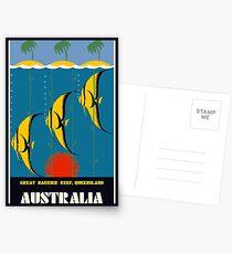 Great Barrier Reef Australia travel advertising Postcards