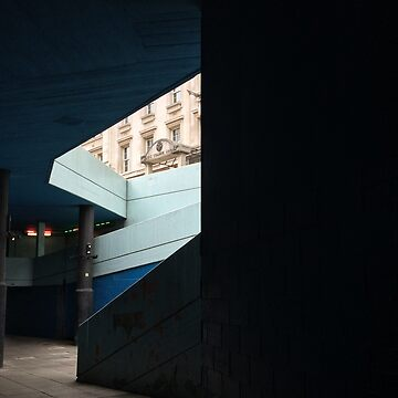 Subway Stair in Blue by babibell