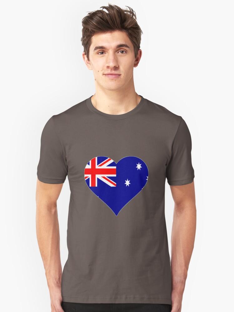 Australian Heart Unisex T-Shirt Front