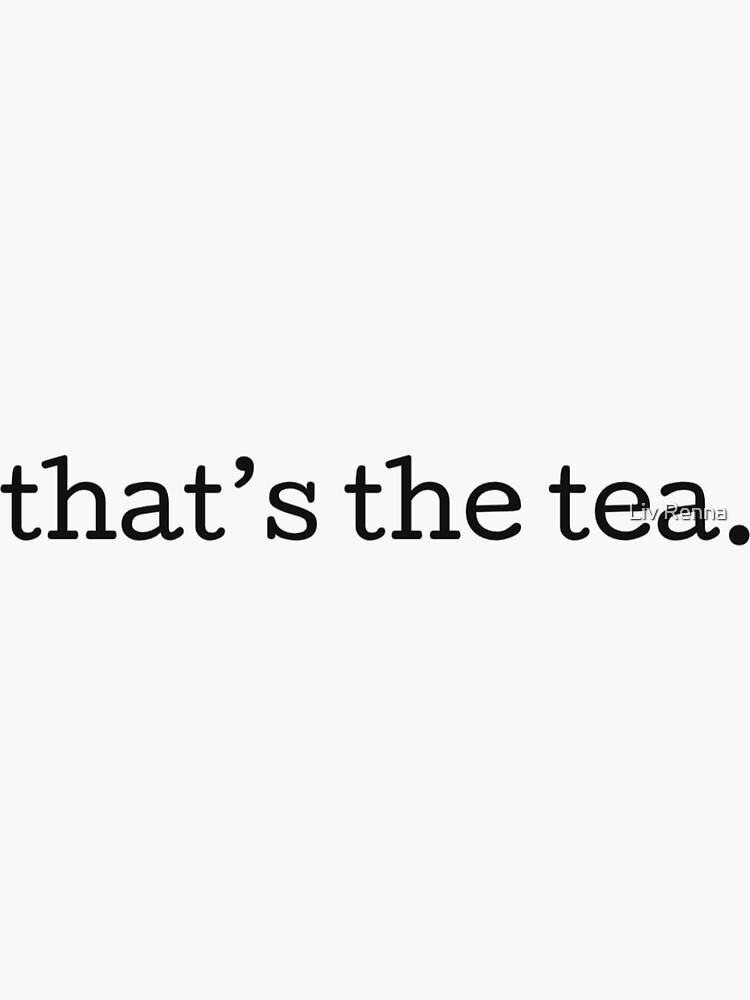 Das ist der Tee von oliviarenna
