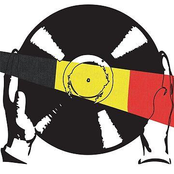 Belgian Flag Vinyl by McFrys