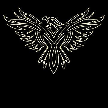 American Eagle Thunderbird Falcon Bird T-Shirt by RecycleBros