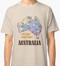 Australia Map + Flag Classic T-Shirt