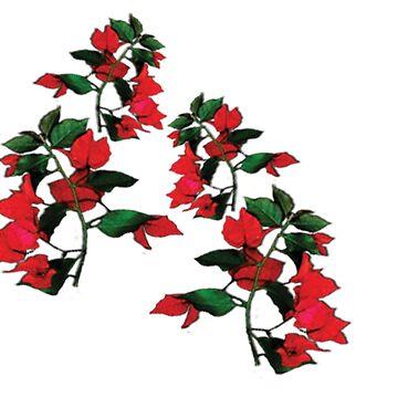Red Floral print by Hadiqa
