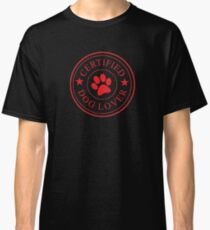 Certified Doglover | dog lover paw love seal Classic T-Shirt