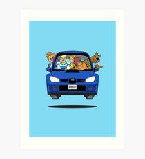 Subaru Impreza WRX Scooby Doo Kunstdruck