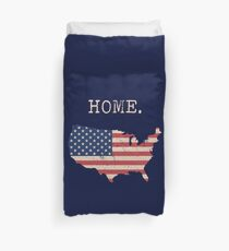 USA State Karte Stars & Stripes nach Hause Bettbezug