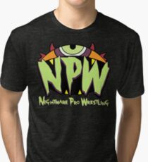 Nightmare Pro Wrestling - 2015 Logo Tri-blend T-Shirt