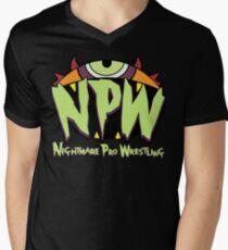 Nightmare Pro Wrestling - 2015 Logo Men's V-Neck T-Shirt
