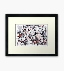 Pebbles on the Beach Framed Print