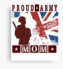Men's United Kingdom Flag My Son HAS Your Back Proud Army DAD Tee Shirt Canvas Print