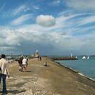 Walk along Howth Pier by Martina Fagan