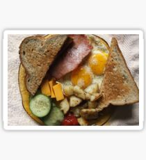 Sunday Morning Ham and Eggs 2 Sticker