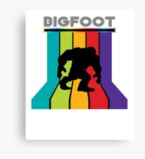 Retro 80's Disco Bigfoot T-Shirt Canvas Print