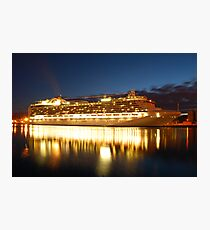 crown princess cruise liner Photographic Print