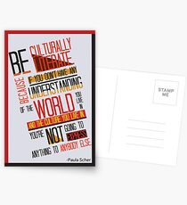 Postales Be Culturally Illiterate - Paula Scher