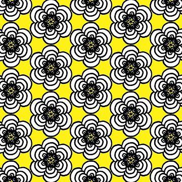 Yellow and Black Flowers by rosemaryann