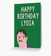 lydia. Greeting Card