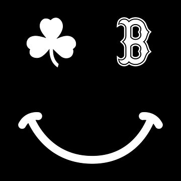 Boston Celtic Smiley Tee Shirt by DollarPrints