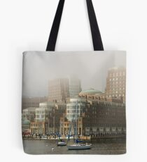 Rowes Wharf In The Mist Tote Bag
