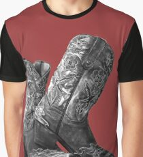 Knockout Cowgirl Boots Graphic T-Shirt