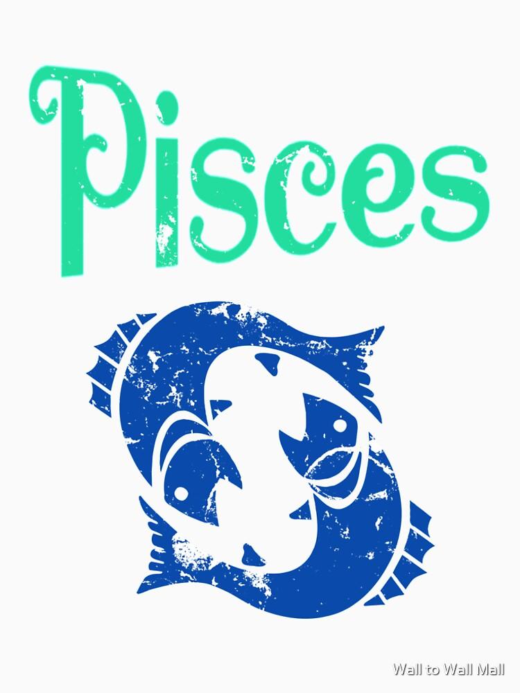 Pisces Zodiac Astrology Horoscope Symbols Graphic Tee Design