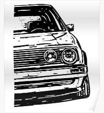 "Golf 2 GTI MK2 ""OLS"" Poster"