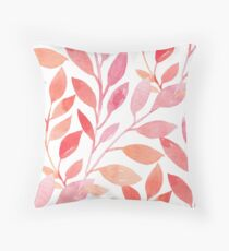 Red Leaf pattern Throw Pillow