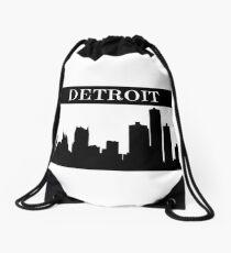 Detroit, Michigan Skyline Drawstring Bag