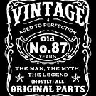 Vintage Aged To Perfection 87 Years Old by wantneedlove