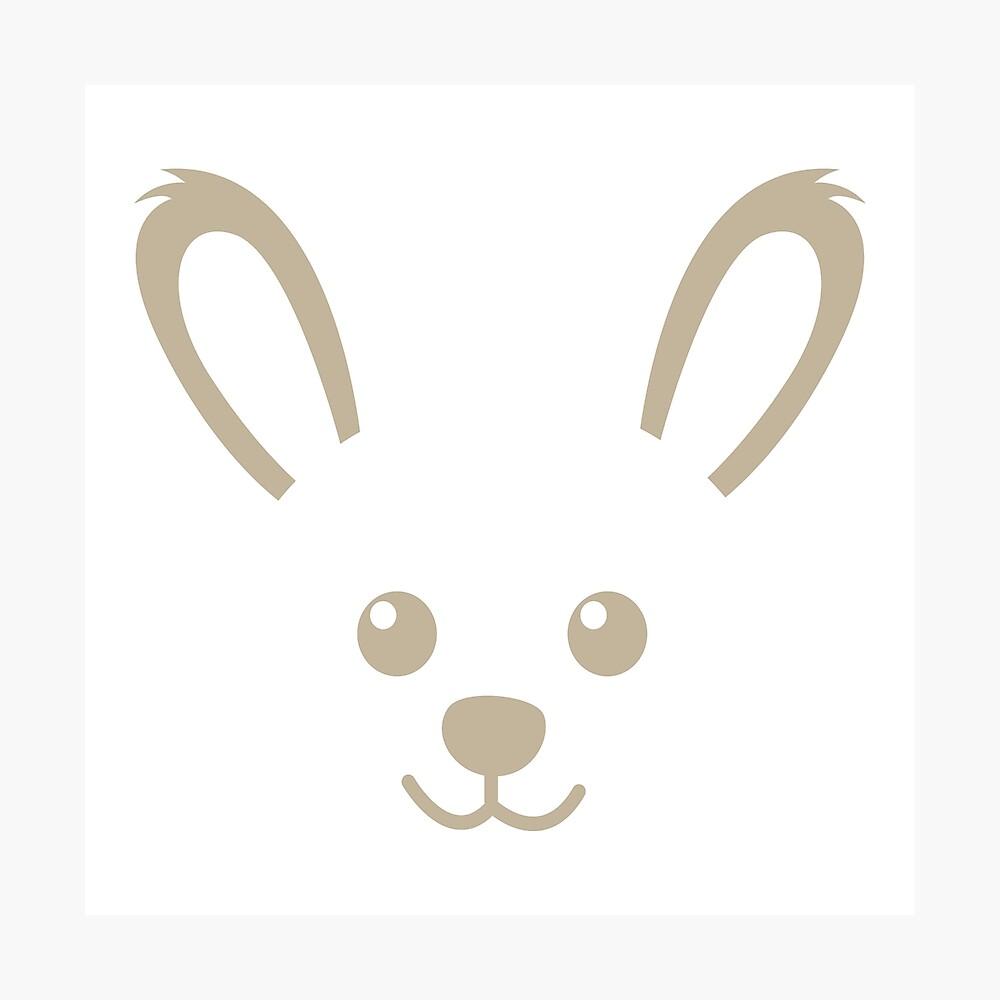 Kaninchen Silhouette Fotodruck