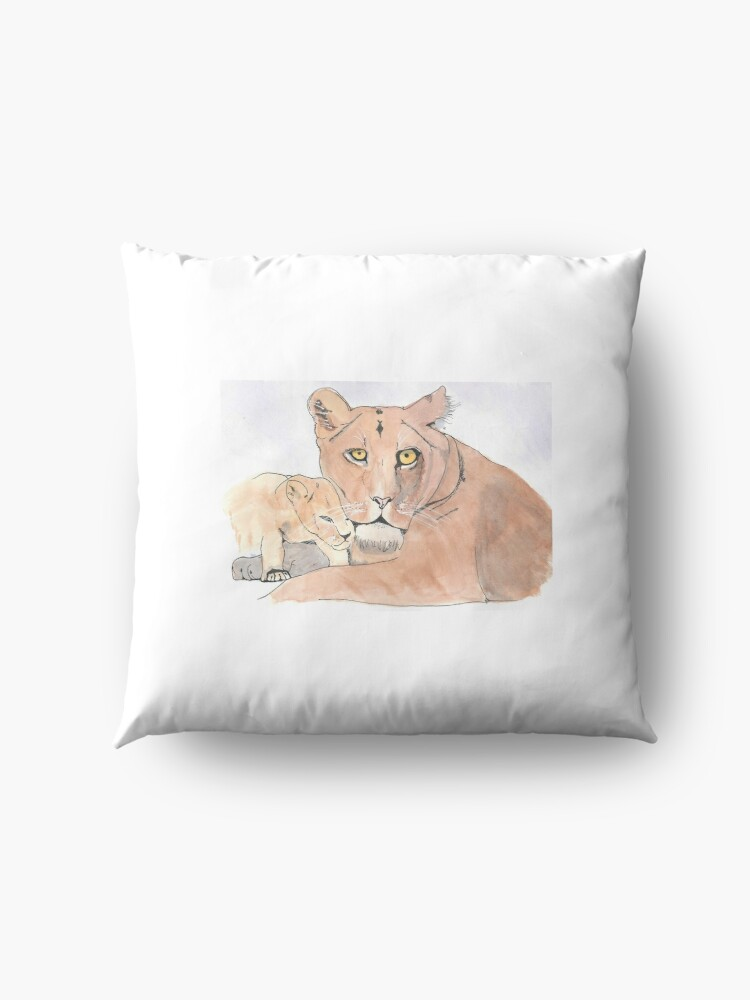 Alternate view of Lion and Cub Floor Pillow