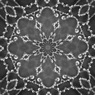 Jewels Kaleidoscope Black And White by Dawne Dunton