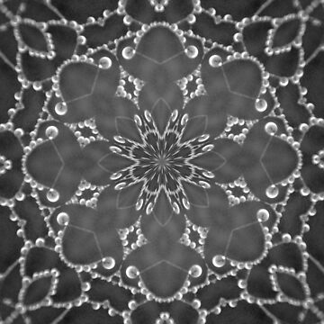 Jewels Kaleidoscope Black And White by DAWNESROMEO