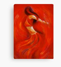 dancing flame Canvas Print