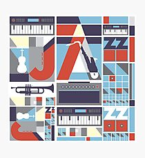 I love jazz 3 Photographic Print